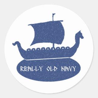 Really Old Navy Round Sticker