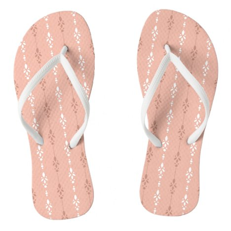 Really pretty salmon pink flip flops