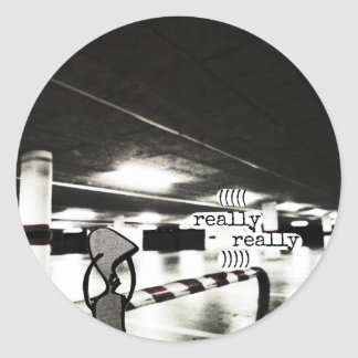 really really classic round sticker