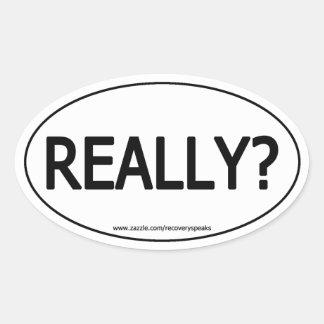 Really Really Oval Sticker