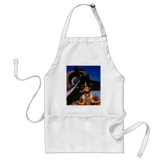Really wonderful to come home Pilot and war plane Adult Apron