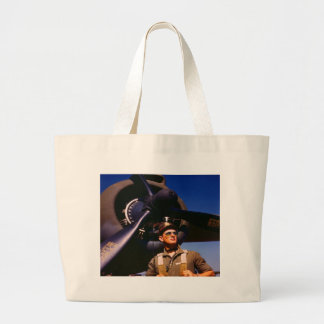Really wonderful to come home Pilot and war plane Bag