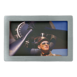 Really wonderful to come home Pilot and war plane Rectangular Belt Buckle