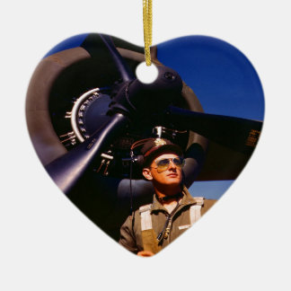 Really wonderful to come home Pilot and war plane Ceramic Ornament