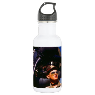 Really wonderful to come home Pilot and war plane Stainless Steel Water Bottle
