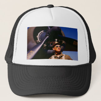 Really wonderful to come home Pilot and war plane Trucker Hat