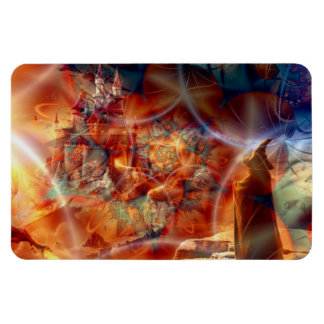 Realm of a wizard rectangular photo magnet