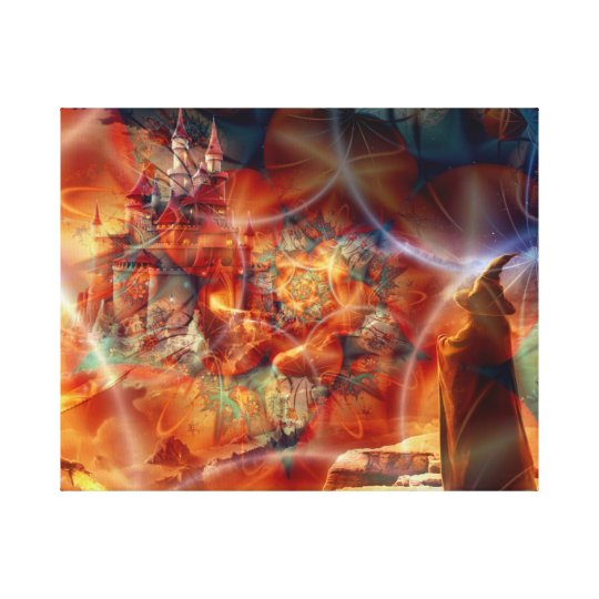 Realm of a Wizard - Stretched Canvas Print