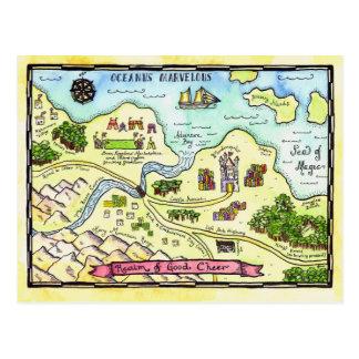Realm of Good Cheer Map Postcard