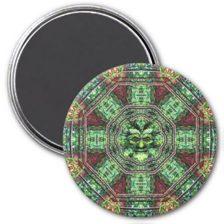 Realm of the Green Man 3 Inch Round Magnet