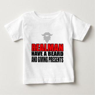 REALMAN sinterklas santaklaus christmas xmas prese Baby T-Shirt