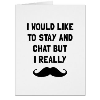 Realmente bigote tarjeta de felicitación grande
