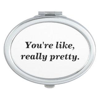 Realmente bonito espejo maquillaje