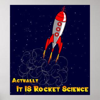 Realmente, ES ingeniería espacial Póster