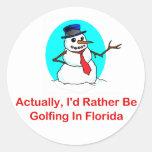 Realmente, Golfing bastante en la Florida Etiqueta Redonda