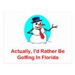 Realmente, Golfing bastante en la Florida Postal