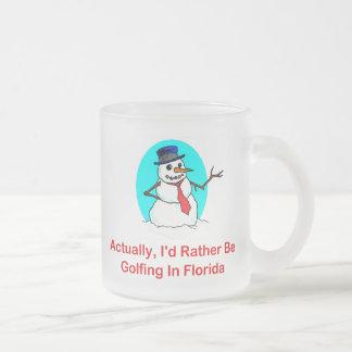 Realmente, Golfing bastante en la Florida Taza De Café Esmerilada