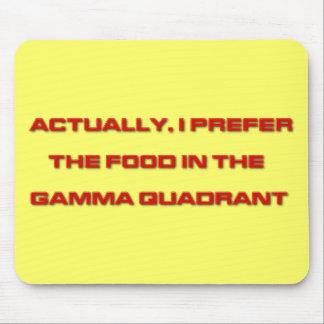 Realmente, prefiero la comida en el cuadrante gamm alfombrilla de ratones