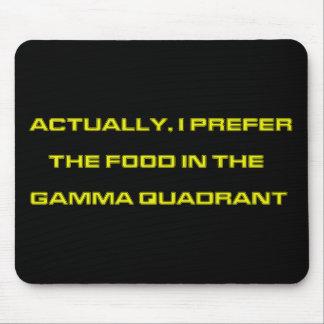 Realmente, prefiero la comida en el cuadrante gamm tapetes de ratones