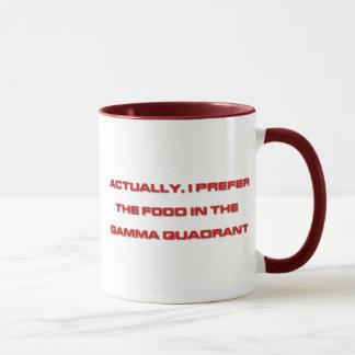 Realmente, prefiero la comida en el cuadrante taza