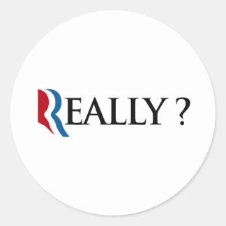 REALMENTE ROMNEY - .PNG PEGATINA REDONDA