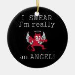 Realmente un ornamento del ángel, personalizar adornos