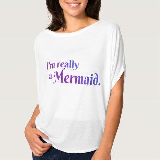 Realmente una camisa de la sirena: Púrpura
