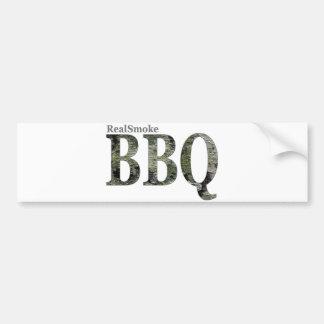 RealSmoke Camo for BBQ Fans Bumper Sticker