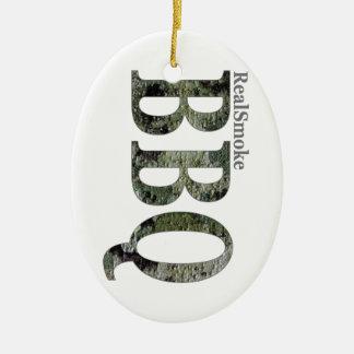 RealSmoke Camo for BBQ Fans Ceramic Ornament