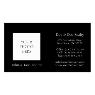 Realtor Broker Head Shot Photo Pick Your Color Double-Sided Standard Business Cards (Pack Of 100)