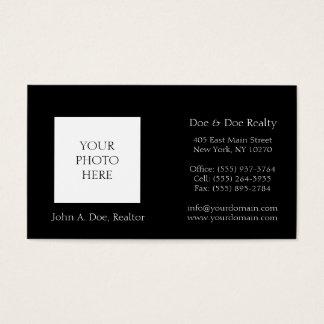 Realtor Broker Head Shot Photo Pick Your Color Business Card