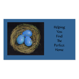 REALTOR BUSINESS CARD: Bird Nest Artwork Double-Sided Standard Business Cards (Pack Of 100)