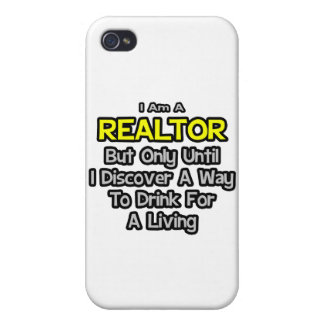Realtor .. Drink for a Living Case For iPhone 4
