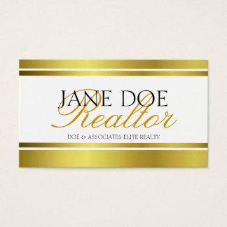 Realtor Gold Metallic Script Business Card