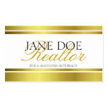 Realtor Gold Metallic Script Double-Sided Standard Business Cards (Pack Of 100)