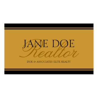 Realtor Gold Script - Available Letterhead - Double-Sided Standard Business Cards (Pack Of 100)