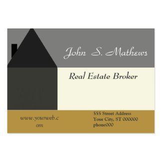 Realtor HomeSales Stylish Large Business Cards (Pack Of 100)