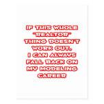 Realtor Humor ... Modeling Career Post Card