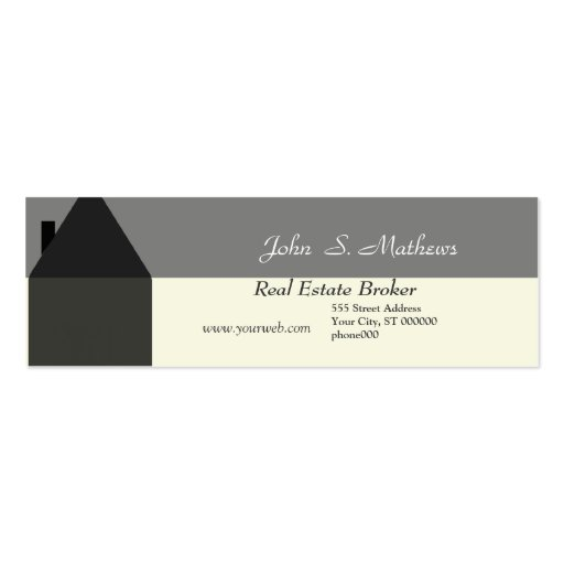Real estate business card templates page34 bizcardstudio for Mini business cards template