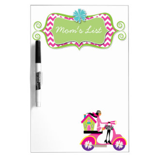 Realtor Mom Real Estate Scooter Girl House Cute Dry-Erase Board
