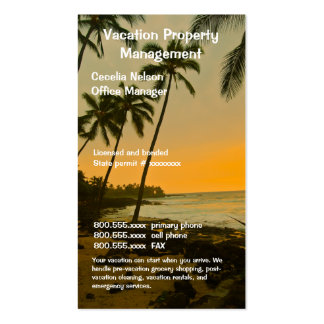 Realtor or Beach Property Management Double-Sided Standard Business Cards (Pack Of 100)