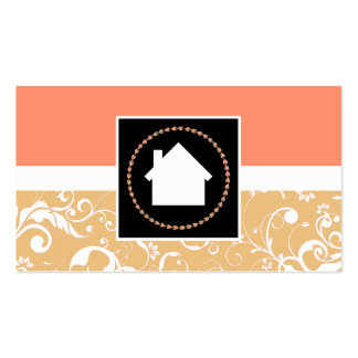realtor professional damask home business card