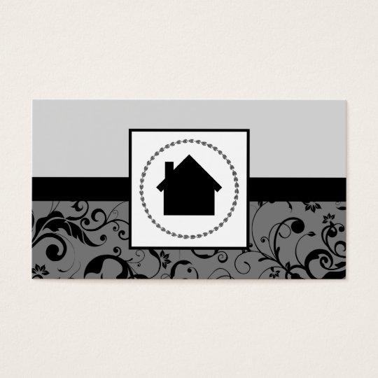 realtor professional damask home business card