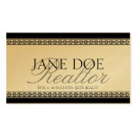 Realtor Script Gold Premium Paper Double-Sided Standard Business Cards (Pack Of 100)