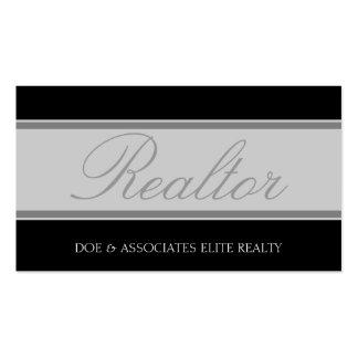Realtor Script Silver Banner Business Card Template
