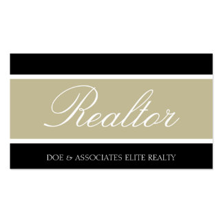 Realtor Script Tan Banner Business Card