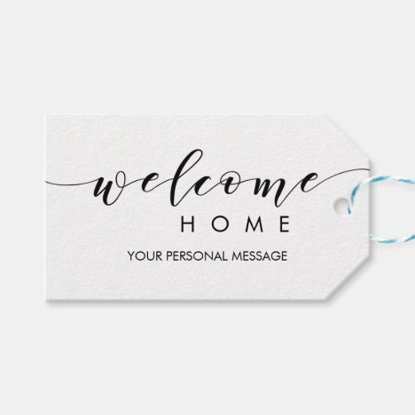 Realtor Welcome Home Gift Tags for Housewarming