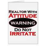 Realtor With Attitude Greeting Card