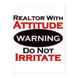 Realtor With Attitude Postcard