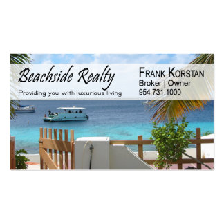 Realtors, Real Estate, Home Stagers, Beachfront Double-Sided Standard Business Cards (Pack Of 100)